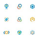 Εξαγωνικό διανυσματικό πρότυπο λογότυπων σχεδίου στοκ φωτογραφία με δικαίωμα ελεύθερης χρήσης