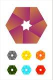 Εξαγωνικό στοιχείο λογότυπων σχεδίου Στοκ εικόνα με δικαίωμα ελεύθερης χρήσης