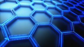 Εξαγωνικό υπόβαθρο τεχνολογίας επιστήμης σύνδεσης απόθεμα βίντεο