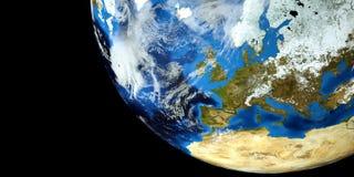 Εξαιρετικά λεπτομερής και ρεαλιστική τρισδιάστατη απεικόνιση υψηλής ανάλυσης ενός τυφώνα στην ατλαντική θάλασσα Πυροβοληθείς από  Στοκ φωτογραφία με δικαίωμα ελεύθερης χρήσης