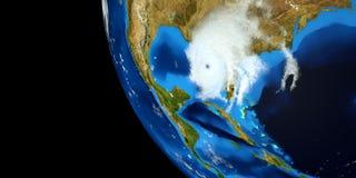 Εξαιρετικά λεπτομερής και ρεαλιστική τρισδιάστατη απεικόνιση υψηλής ανάλυσης ενός τυφώνα Πυροβοληθείς από το διάστημα Τα στοιχεία στοκ εικόνα με δικαίωμα ελεύθερης χρήσης