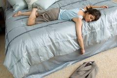 Εξαντλημένη επιχειρησιακή γυναίκα Στοκ εικόνα με δικαίωμα ελεύθερης χρήσης