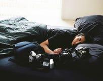 εξαντλημένος φωτογράφος Στοκ εικόνες με δικαίωμα ελεύθερης χρήσης