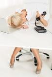 Εξαντλημένος γραμματέας Στοκ Φωτογραφίες