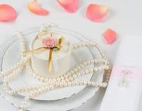 Εξαρτήματα γαμήλιων πινάκων Στοκ φωτογραφία με δικαίωμα ελεύθερης χρήσης