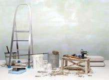Εξαρτήματα επισκευής Σύνολο εργαλείων και χρωμάτων για την παραγωγή της επισκευής Ι Στοκ Εικόνες