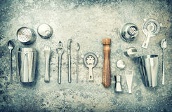 Εξαρτήματα και εργαλεία φραγμών για την παραγωγή του τρύού δονητών κοκτέιλ Στοκ φωτογραφία με δικαίωμα ελεύθερης χρήσης