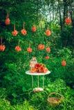 Εξαρτήματα και διακόσμηση για τον πορτοκαλή γάμο σας, ζώνη φωτογραφιών Στοκ Φωτογραφίες