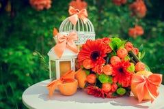 Εξαρτήματα και διακόσμηση για τον πορτοκαλή γάμο σας Στοκ εικόνες με δικαίωμα ελεύθερης χρήσης