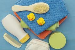 Εξαρτήματα λουτρών μωρών Στοκ φωτογραφία με δικαίωμα ελεύθερης χρήσης
