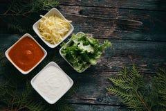 Εξαρτήματα πρόχειρων φαγητών Στοκ εικόνα με δικαίωμα ελεύθερης χρήσης