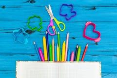 Εξαρτήματα σχολείου και γραφείων Στοκ Φωτογραφίες