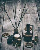 Εξαρτήματα Aromatherapy και χαλάρωσης Στοκ Φωτογραφίες