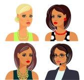 εξαρτήματα hairstyles makeup διανυσματική απεικόνιση