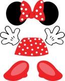 Εξαρτήματα Minnie Disney διανυσματική απεικόνιση