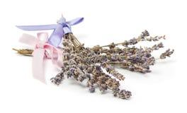 Εξαρτήματα SPA, δύο δέσμες lavender που απομονώνεται στο λευκό Στοκ εικόνες με δικαίωμα ελεύθερης χρήσης