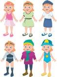 εξαρτήσεις κοριτσιών Στοκ εικόνα με δικαίωμα ελεύθερης χρήσης