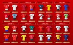 Εξαρτήσεις 2018 Παγκόσμιου Κυπέλλου της Ρωσίας διανυσματική απεικόνιση