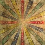 Εξασθενισμένο και φορεμένο Grunge Ray Star Burst Backgroung Tile Στοκ εικόνες με δικαίωμα ελεύθερης χρήσης