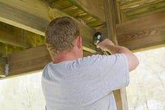 εξασφάλιση γεφυρών ξυλ&omicron Στοκ Εικόνες
