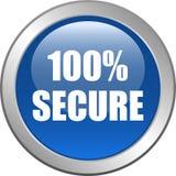 100 εξασφαλίζουν το κουμπί Ιστού Στοκ φωτογραφία με δικαίωμα ελεύθερης χρήσης