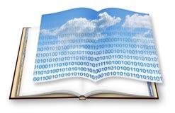 Εξασφαλίστε την αποθήκευση στο σύννεφο υπηρεσιών - εικόνα έννοιας με το ανοικτό βιβλίο φωτογραφιών - - είμαι ο ιδιοκτήτης πνευματ στοκ φωτογραφία με δικαίωμα ελεύθερης χρήσης