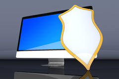 Εξασφαλίστε το συγκρότημα ηλεκτρονικών υπολογιστών διανυσματική απεικόνιση