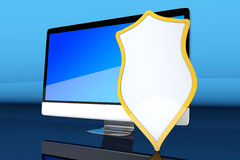 Εξασφαλίστε το συγκρότημα ηλεκτρονικών υπολογιστών ελεύθερη απεικόνιση δικαιώματος