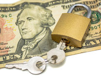 Εξασφαλισμένα χρήματα Στοκ φωτογραφία με δικαίωμα ελεύθερης χρήσης