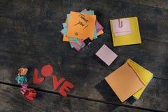 Εξατομικεύσιμα μηνύματα της εκτίμησης και της αγάπης στοκ φωτογραφία με δικαίωμα ελεύθερης χρήσης
