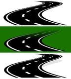 Εξαφάνιση, εξασθενίζοντας two-lane δρόμος στις εκδόσεις Απλή προοπτική, απεικόνιση αποθεμάτων