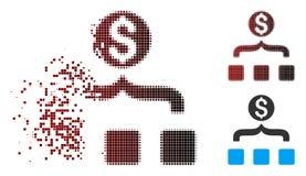 Εξαφανιμένος εικονίδιο Aggregator χρημάτων εικονοκυττάρου ημίτονο Διανυσματική απεικόνιση