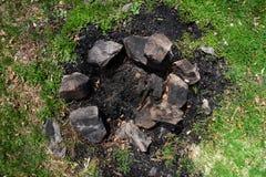 Εξαφανισμένη θέση πυρκαγιάς στρατόπεδων Στοκ Εικόνες