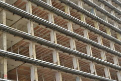 Εξεντερισμένο multistorey κτήριο Στοκ φωτογραφία με δικαίωμα ελεύθερης χρήσης