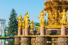 Εξερευνήστε τα ορόσημα VDNH στη Μόσχα στοκ εικόνες