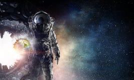 Εξερευνητής αστροναυτών στο διάστημα Μικτά μέσα απεικόνιση αποθεμάτων