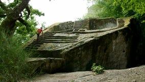 Εξερευνητής πυραμίδων Etruscan απόθεμα βίντεο