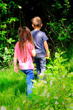 Εξερεύνηση παιδιών στοκ φωτογραφίες