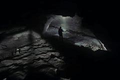 Εξερεύνηση σπηλιών στοκ εικόνες