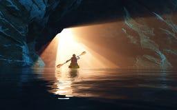 Εξερεύνηση της σπηλιάς ελεύθερη απεικόνιση δικαιώματος