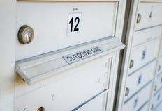 Εξερχόμενο ντουλάπι ταχυδρομικών θυρίδων Στοκ φωτογραφίες με δικαίωμα ελεύθερης χρήσης