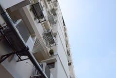 Εξετάστε επάνω την κατοικία διαμερισμάτων στην Ταϊλάνδη Βήμα της οικοδόμησης Στοκ Εικόνες