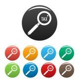 Εξετάστε τα φορολογικά εικονίδια καθορισμένα το χρώμα απεικόνιση αποθεμάτων