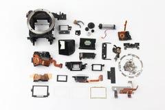 Εξετασμένος λεπτομερώς την ηλεκτρονική ψηφιακή κάμερα παραθυρόφυλλων στοκ φωτογραφία με δικαίωμα ελεύθερης χρήσης