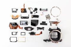 Εξετασμένος λεπτομερώς την ηλεκτρονική ψηφιακή κάμερα παραθυρόφυλλων στοκ εικόνες