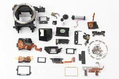 Εξετασμένος λεπτομερώς την ηλεκτρονική ψηφιακή κάμερα παραθυρόφυλλων στοκ φωτογραφίες με δικαίωμα ελεύθερης χρήσης