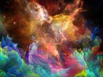 Εξελισσόμενο διαστημικό νεφέλωμα απεικόνιση αποθεμάτων