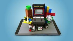 Εξηγήστε ότι το διάφορο παιχνίδι μεταφορτώνει τη λειτουργία υπηρεσιών Διαδικτύου για το έξυπνο τηλέφωνο έξυπνο μαξιλάρι, κινητό απεικόνιση αποθεμάτων