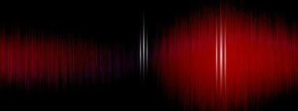 Εξισωτής, υγιές κύμα, συχνότητες κυμάτων, ελαφρύ αφηρημένο υπόβαθρο, φωτεινό, λέιζερ Κόκκινη ταλάντευση υγιών κυμάτων αφηρημένη μ Στοκ Φωτογραφίες