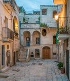 Εξισώνοντας σε Polignano μια φοράδα, επαρχία του Μπάρι, Apulia, νότια Ιταλία Στοκ εικόνες με δικαίωμα ελεύθερης χρήσης